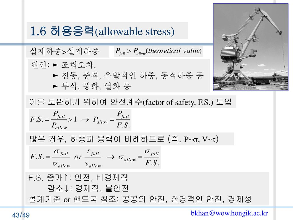 1.6 허용응력(allowable stress)