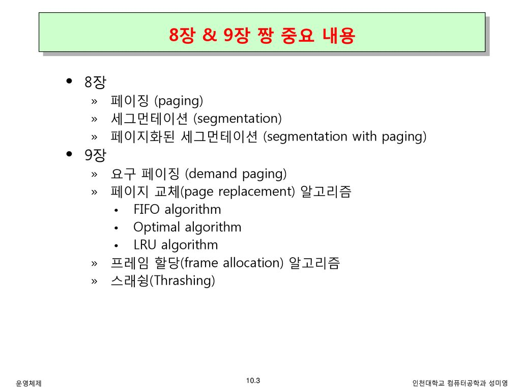 Chapter 9  가상 메모리 (Virtual Memory) - ppt download
