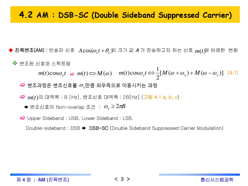 4 Am Dsb Scdsb Lc Ppt Download Double Sideband Suppressed Carrier Sc Modulator 42