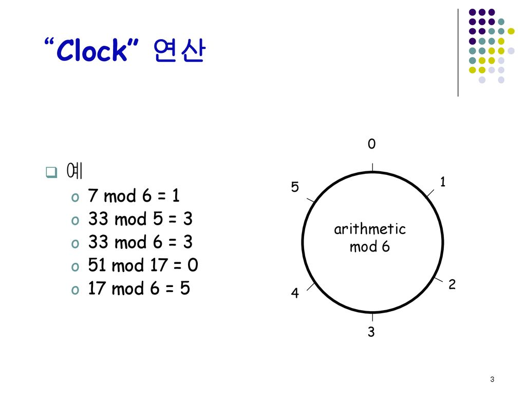 Modulo 연산  - ppt download