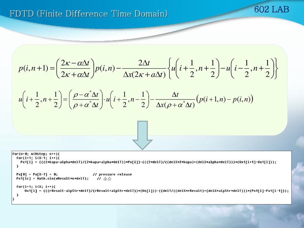 602 LAB FDTD (Finite Difference Time Domain)