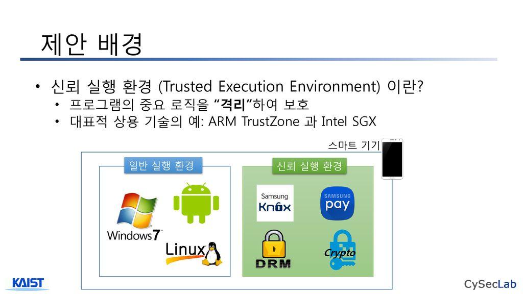 개인 개발자(업체)의 신뢰 실행 환경 기술 활용을 위한 프라이빗
