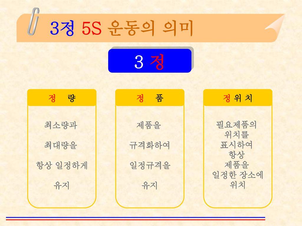 3정 5S 추진안(案)  - ppt download