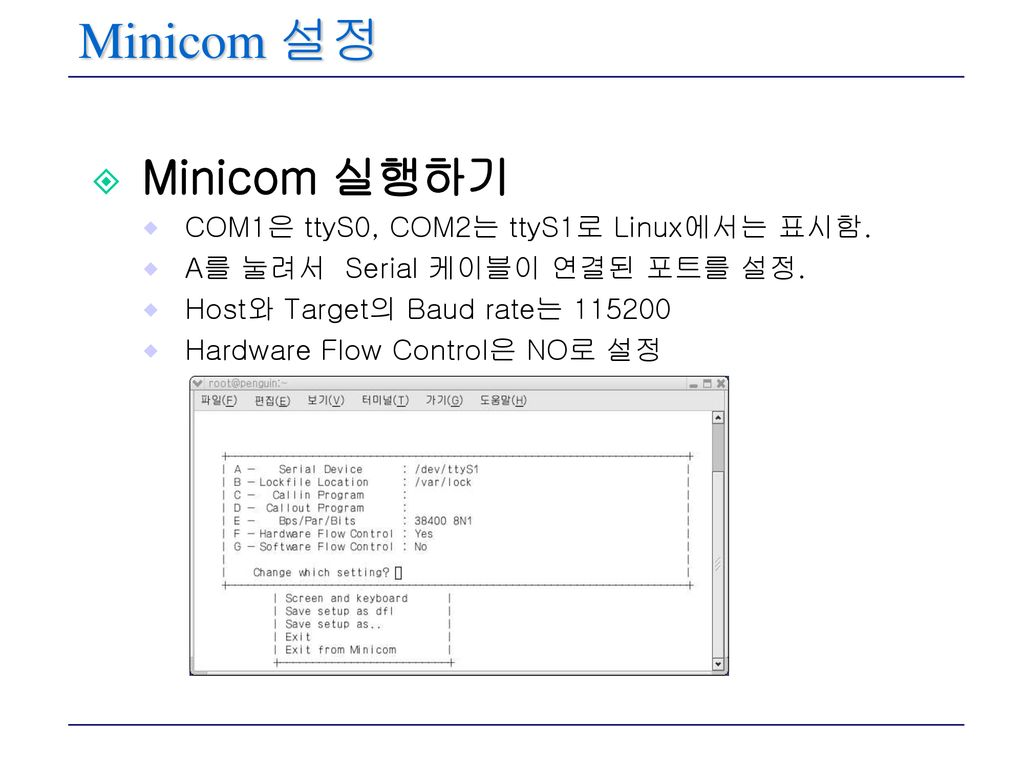Minicom Baud Rate